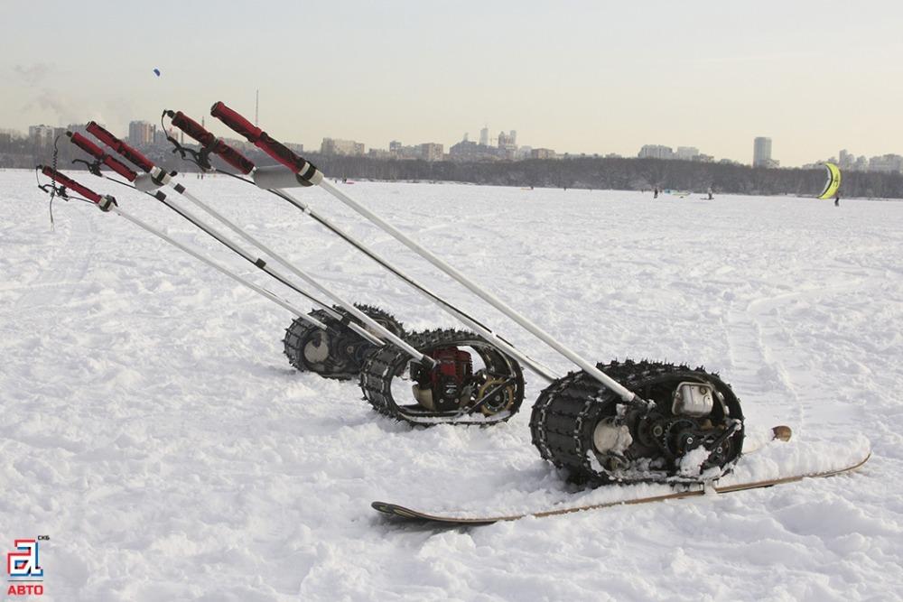 Буксировщики лыжника «Снегирь», три буксировщика лыжника, буксировщик лыжника