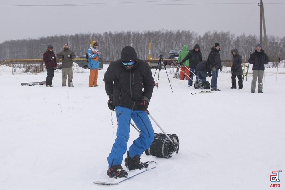 Буксировщик лыжника «Снегирь», Подольские поля, покатушки, СКБ «Авто»
