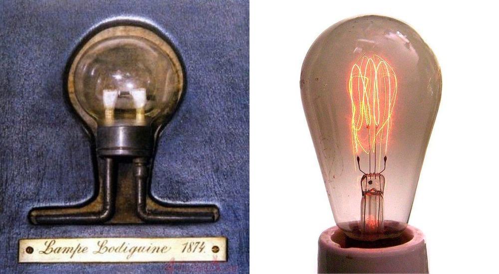 Лампа накаливания с угольной нитью и первая накаливания с вольфрамовой нитью, лампа накаливания с угольной нитью, лампа накаливания с вольфрамовой нитью