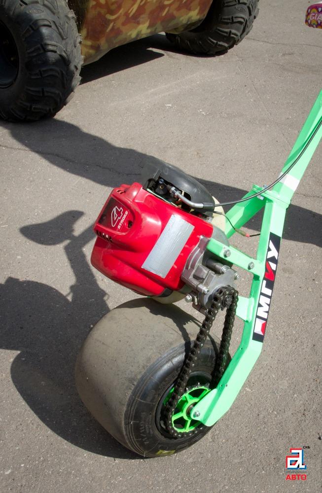 Мотометла «Яга», мотометла, транспорт для роликовых коньков